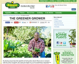 Bonnie Plants proudly displays its move to the greenest energy on its Greener Grower site